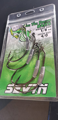 LTD WEEDLESS WEIGHTED HOOKS 4 pk