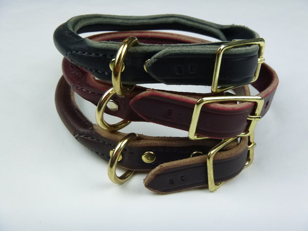 Imperfect Rolled Leather Buckle Collar