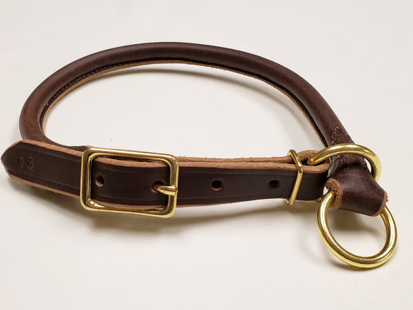 Rolled Leather Slip Collar