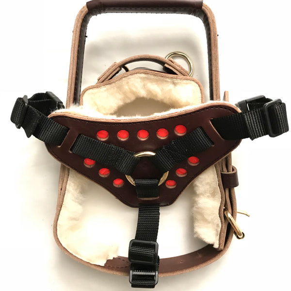 Nylon & Leather Single Strap Support Harness