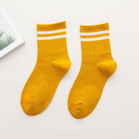 Yellow Striped Socks