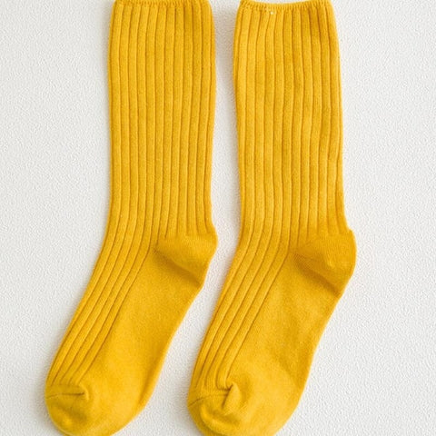 Plain Yellow Socks