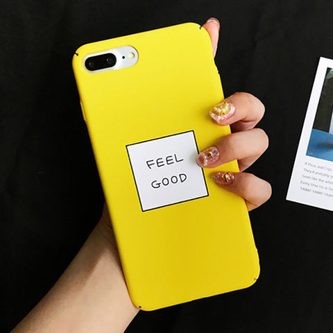 LOVECOM Yellow Color Letter Case For iPhone XS XR XS Max X 8 7 6 6S Plus Matte Hard PC Fashion Phone Back Cove Coque Fundas Capa