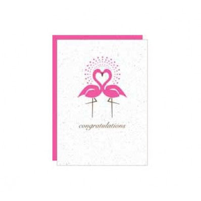 Botanical Paperworks Plantable Wedding Congratulations Card