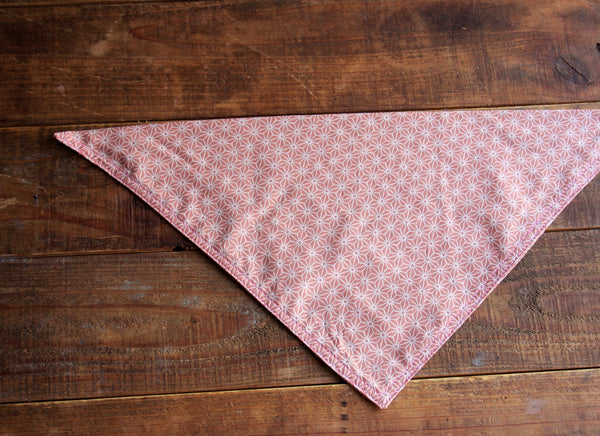 Pink Hemp Leaves Dog bandana