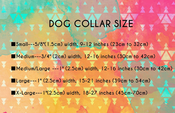 dog collar size