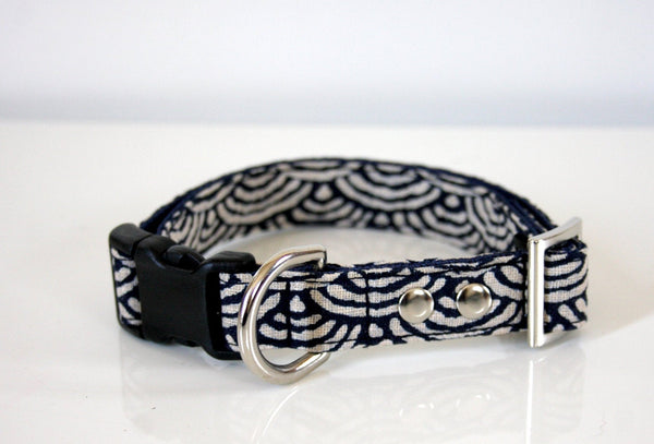 indigo dog collar
