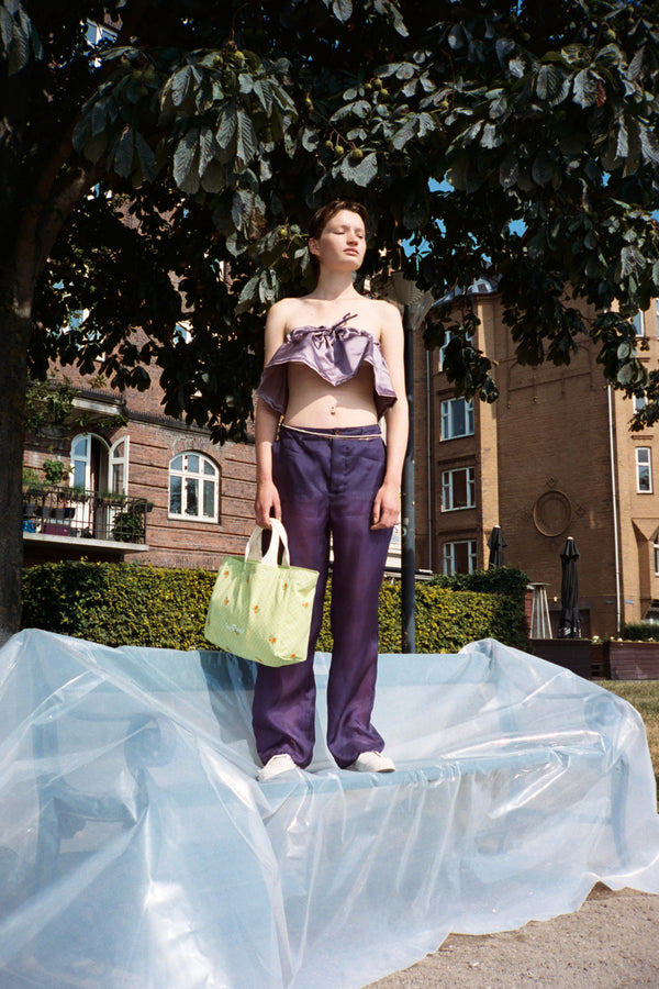 Purple Organza Two-way Trousers