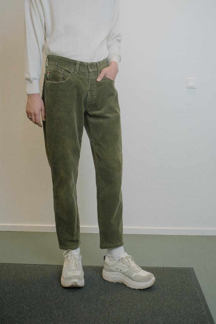 Moschino Corduroy Olive Green Pants - Studio Travel