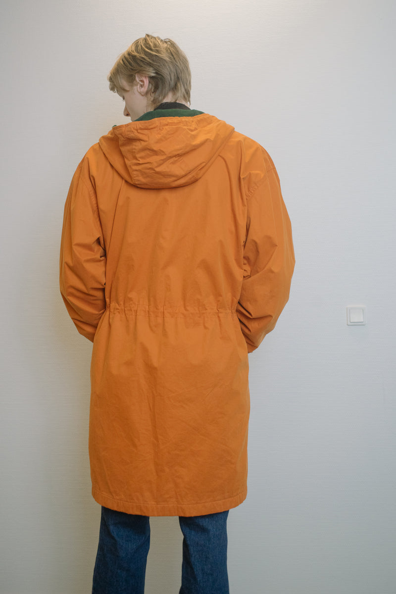 Benetton Orange Hooded Parka - Studio Travel