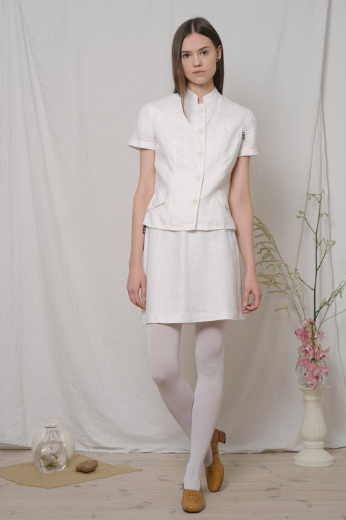 Gianfranco Ferré White Linen Skirt Set - Studio Travel
