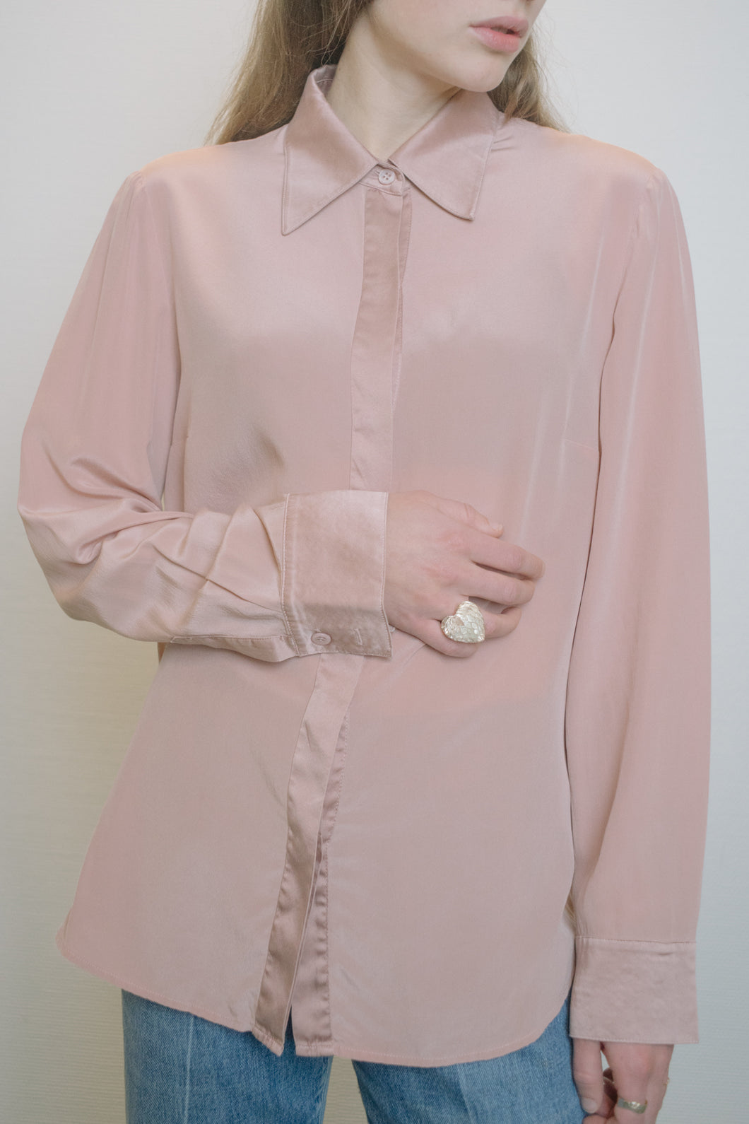 Luisa Spagnoli Pink Silk Shirt - Studio Travel