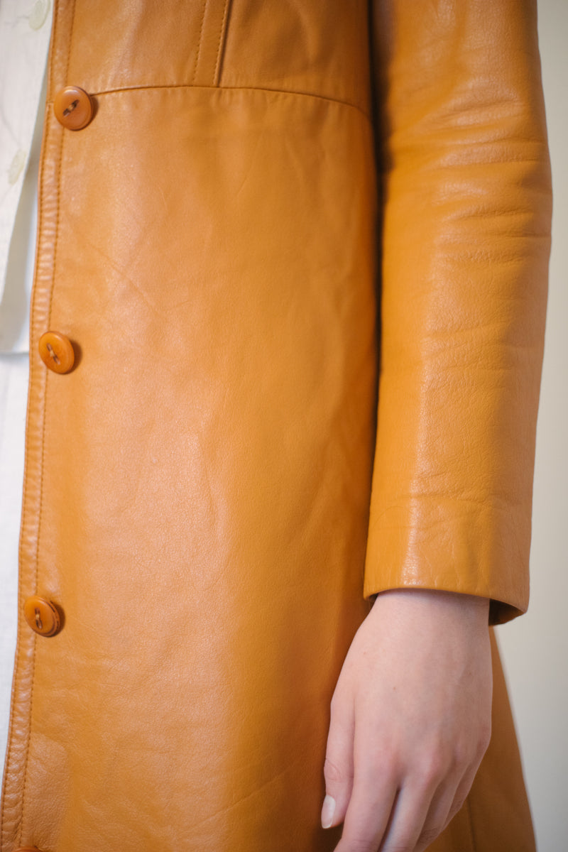 Vintage Belted Leather Jacket - Studio Travel