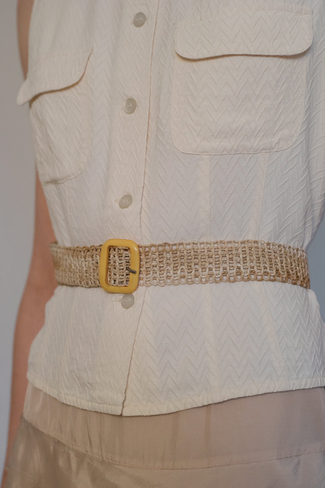 Woven Straw Belt - Studio Travel