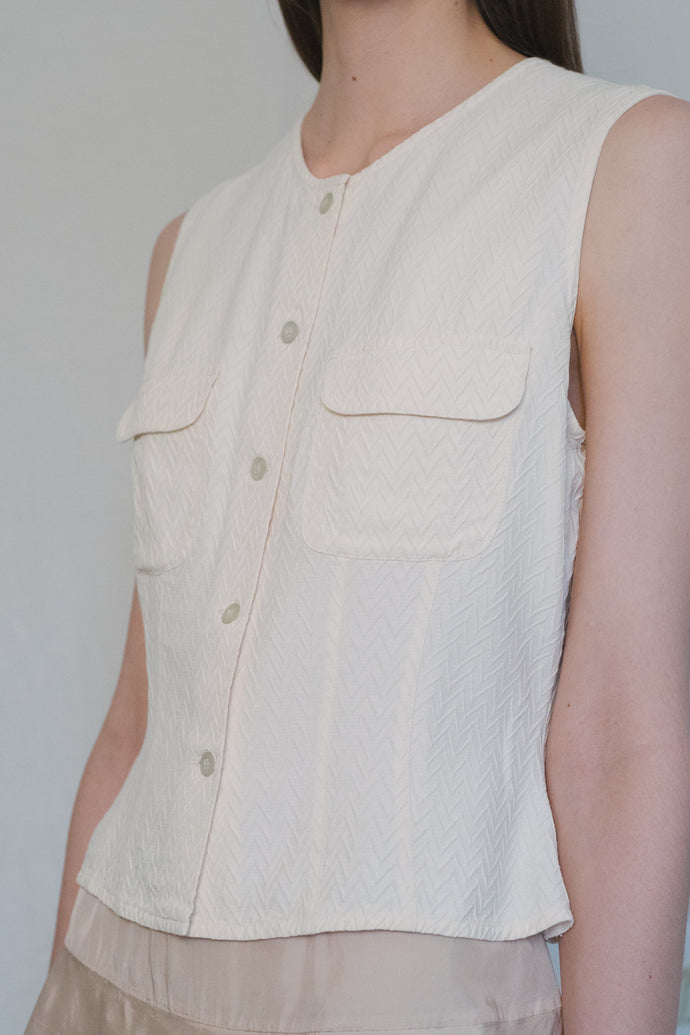 Armani Off-White Vest - Studio Travel