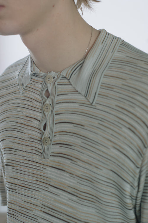 Missoni Sport Striped Polo Shirt - Studio Travel