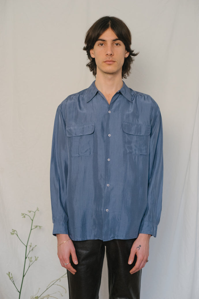 Stefanel Indigo Silk Shirt - Studio Travel