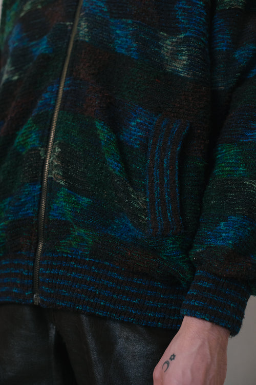 Vintage Padded Zipper Sweater - Studio Travel