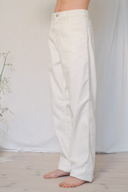 Carhartt Off-White Cotton Pants - Studio Travel