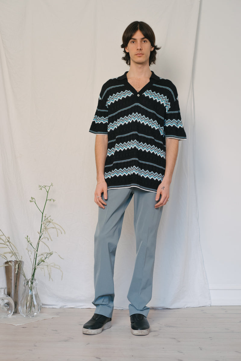Byblos Zig-Zag Knit Shirt - Studio Travel
