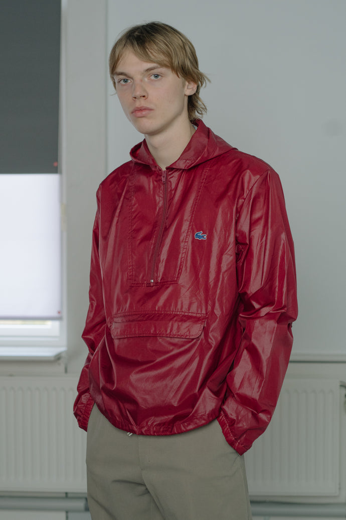 Lacoste Half-Zip Hooded Jacket - Studio Travel