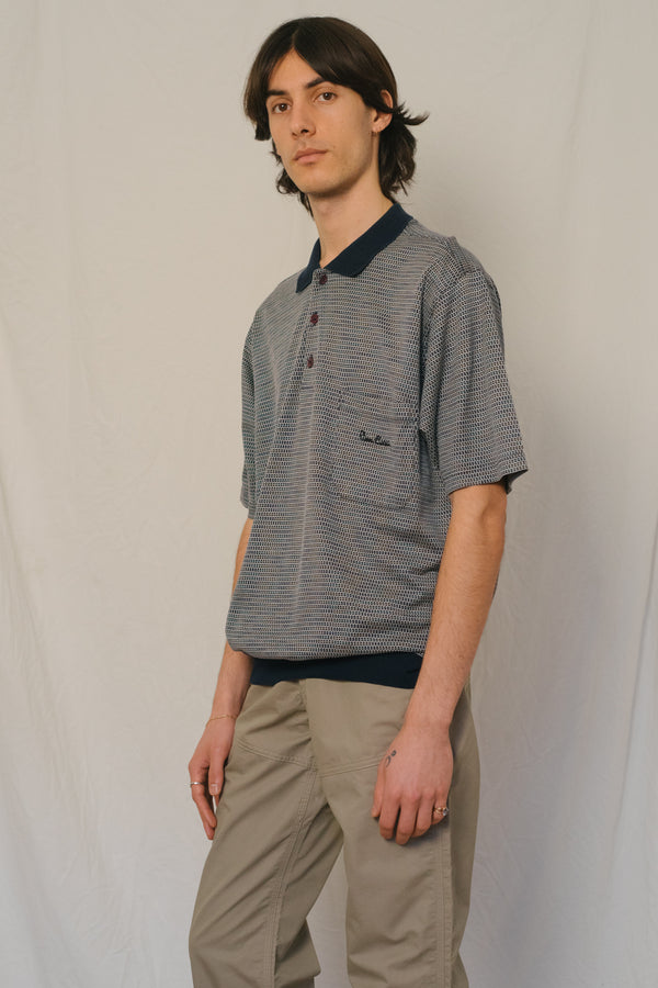 Pierre Cardin Jacquard Knitted Polo Shirt - Studio Travel
