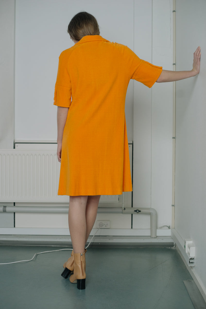 Louis Féraud Orange Shirt Sun Dress - Studio Travel