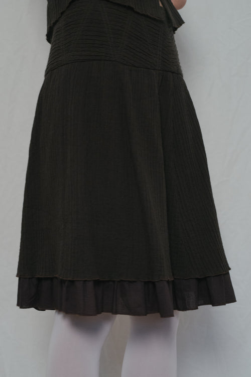 Max&Co Brown Cotton Skirt Set - Studio Travel