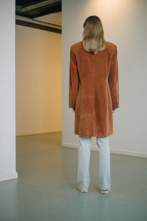 Corduroy Clean-Lined Coat - Studio Travel