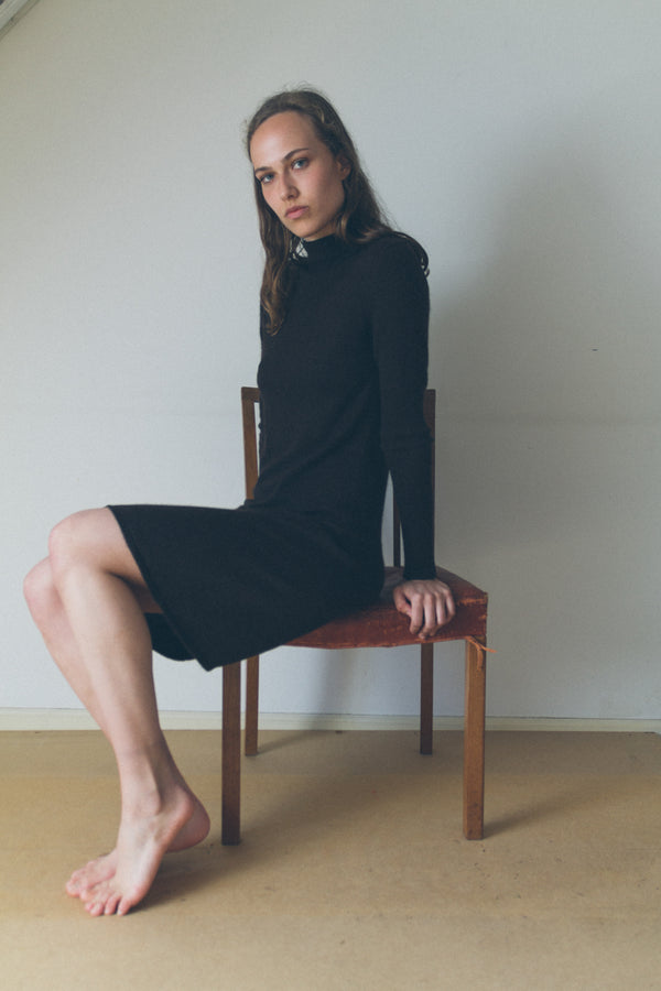 Hermes Brown Cashmere Dress - Studio Travel