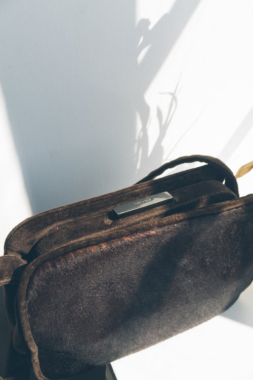 Prada Brown Pony Hair Bag - Studio Travel