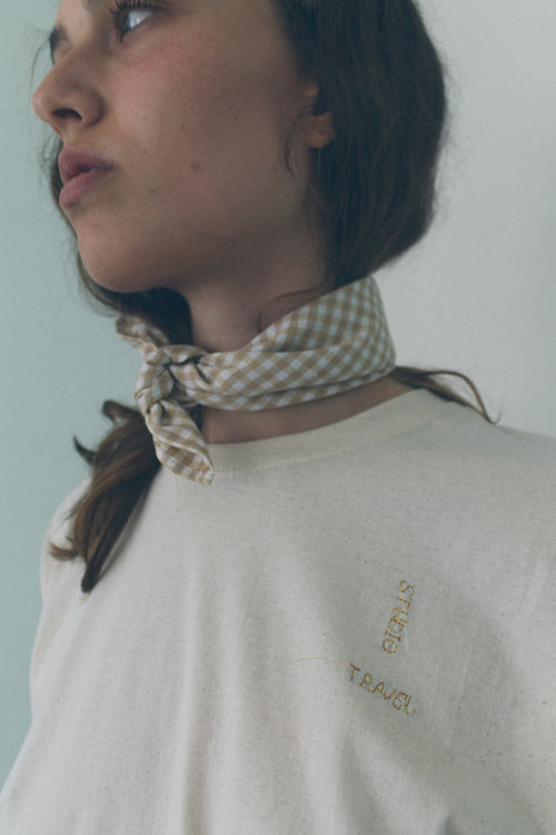 Checked Bandana Scarf - Studio Travel