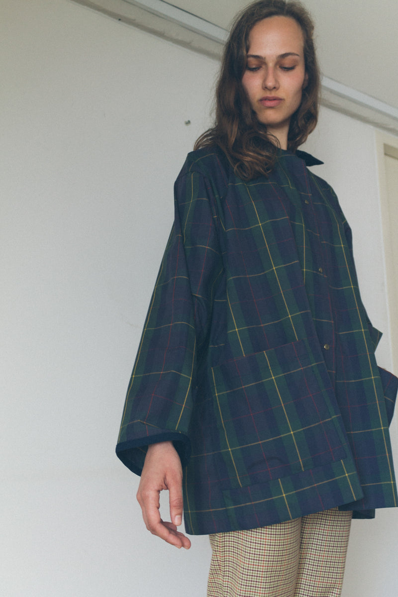 Pasotti Checked Raincoat - Studio Travel