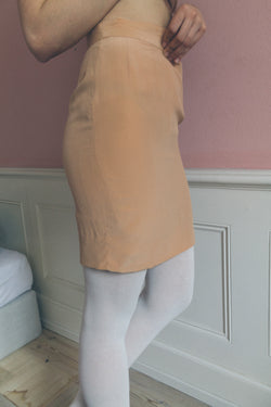 Marella Peach Silk Skirt - Studio Travel