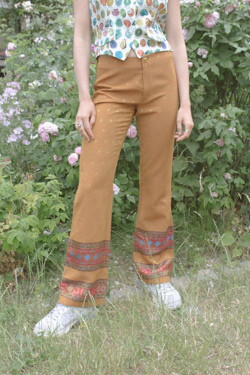 Romeo Gigli Tribal Striped Pattern Trousers