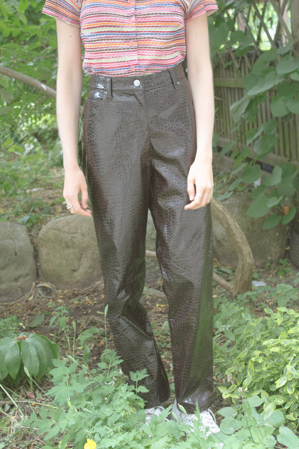 Armani Brown PVC Trousers
