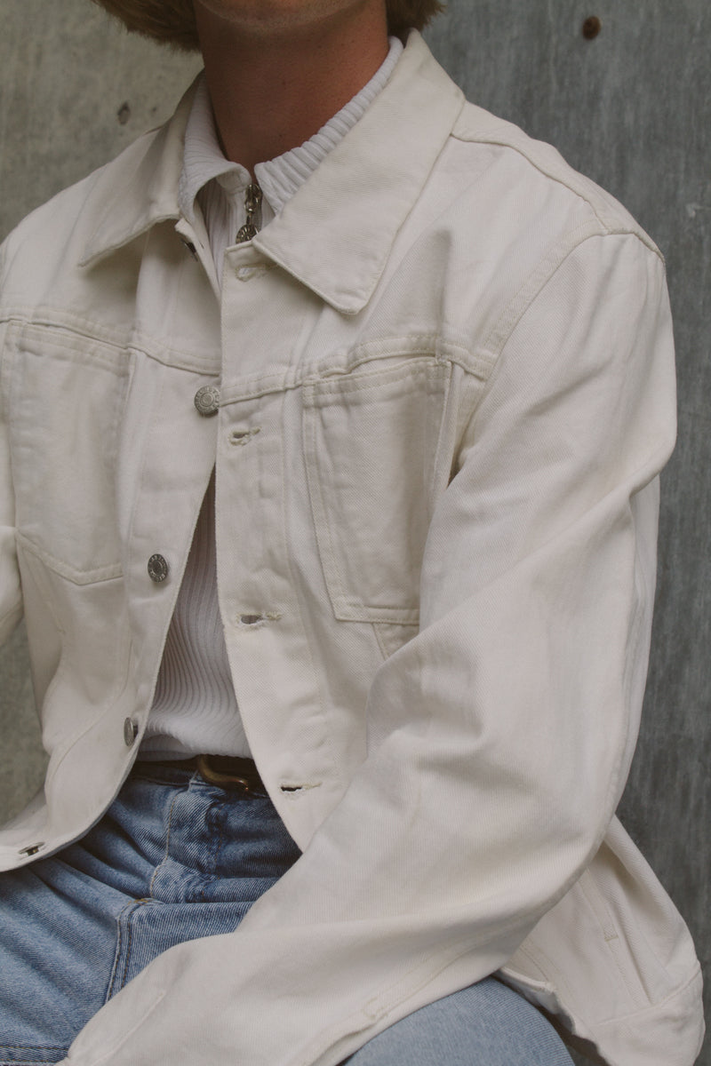 Helmut Lang White Denim Jacket