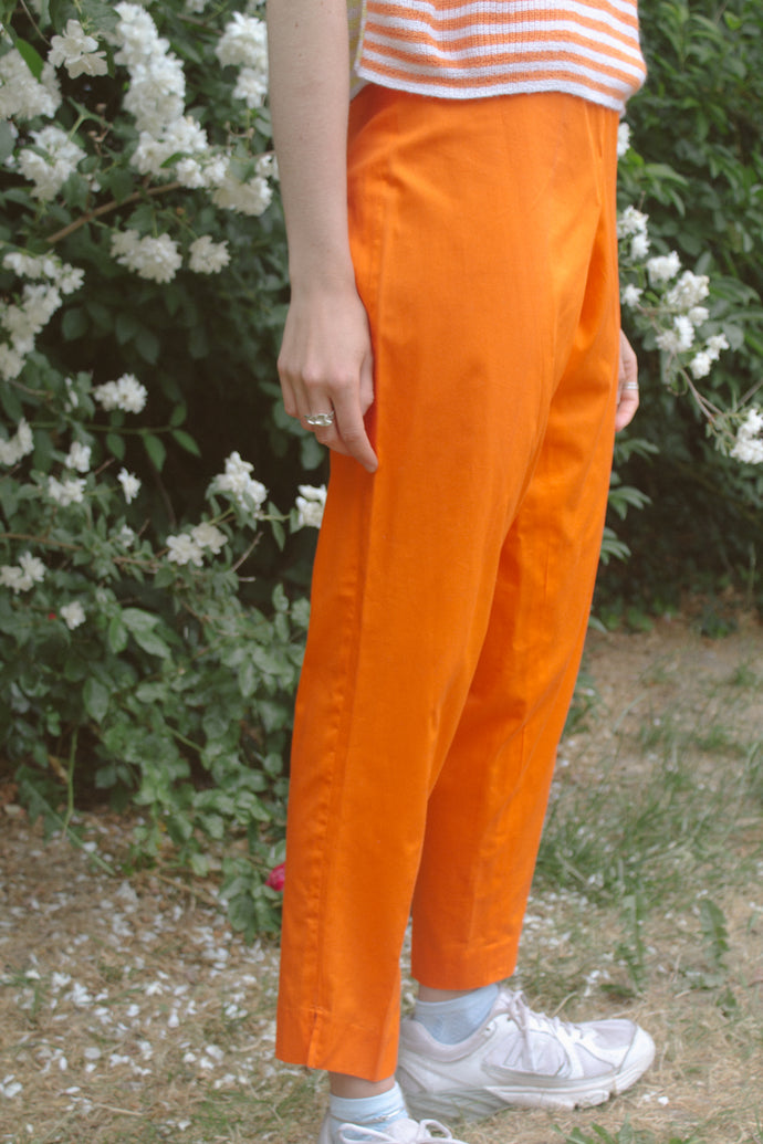 Vintage High Waisted Orange Pants