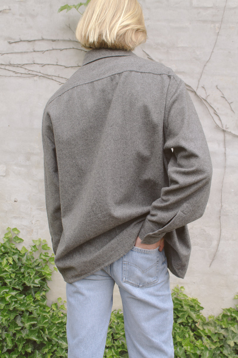 Stefanel Grey Wool Shirt