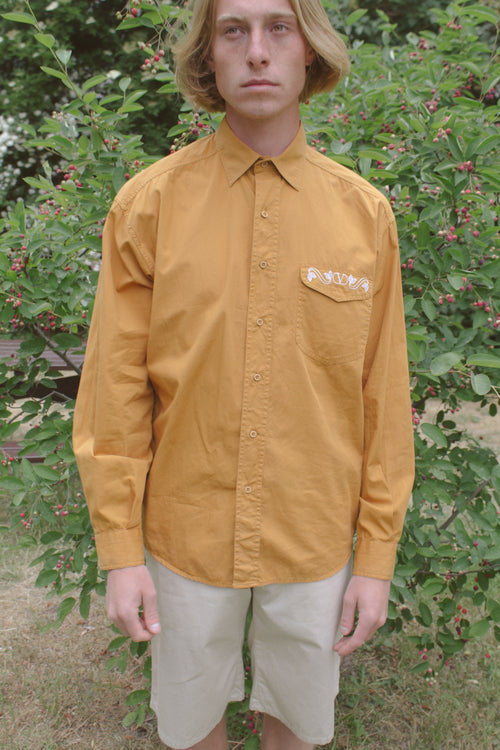 Valentino Mustard Cotton Shirt