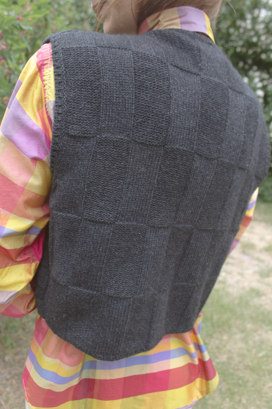 Prada Checked Knitted Vest