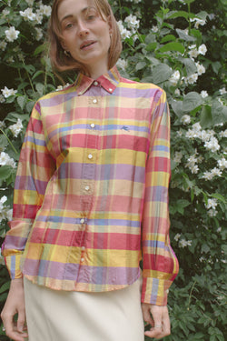 Etro Checked Multicolour Silk Shirt