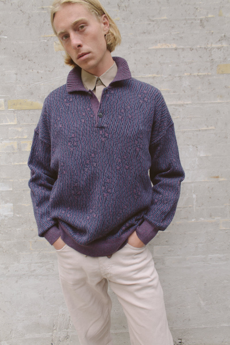 Ermenegildo Zegna Pattern Knit Sweater