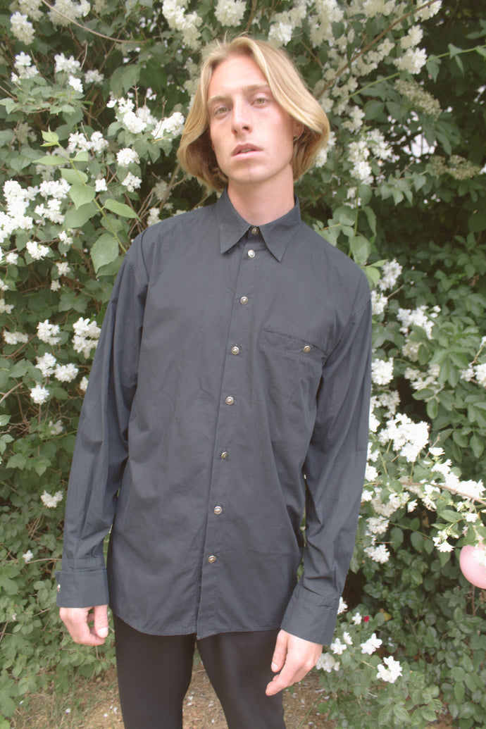 Versus Black Cotton Shirt