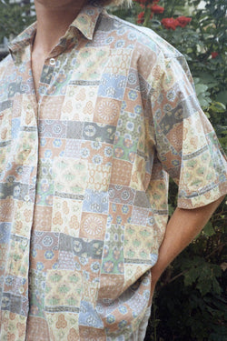 Pattern Short Sleeve Shirt