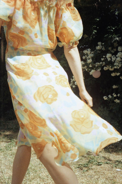 Dreamy Yellow Flower Dress