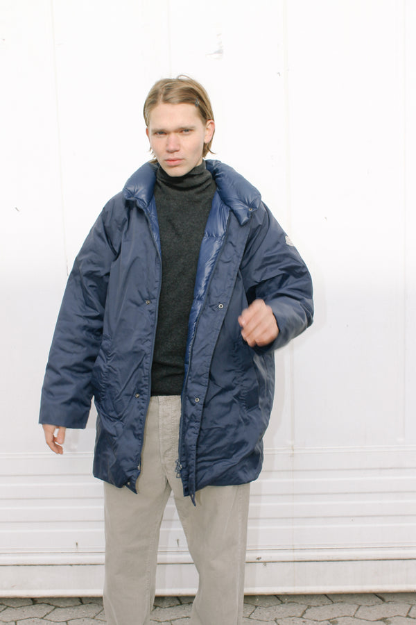 Moncler padded blue coat