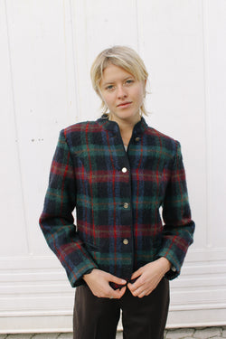 Burberry checked wool jacket