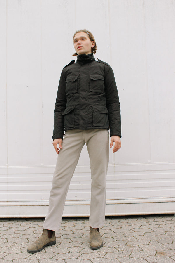 Alberto Aspesi padded jacket with 3D chest pockets