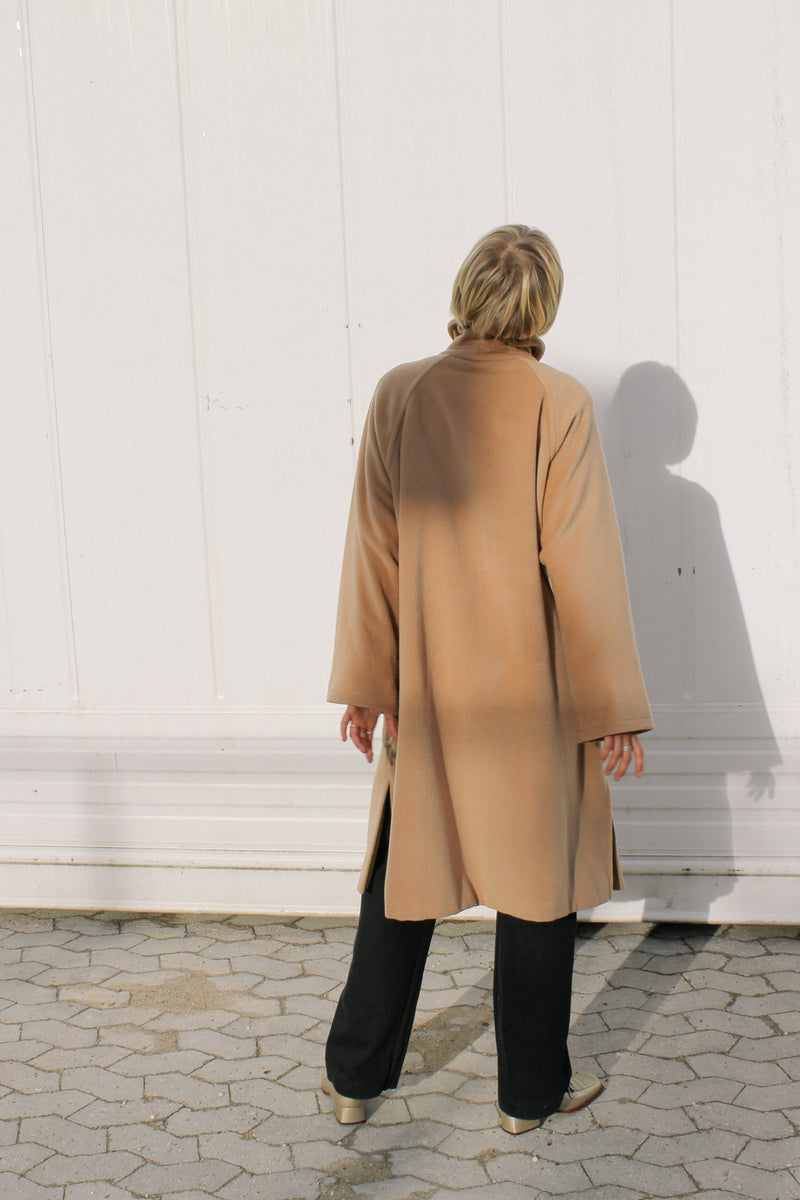 Max Mara camel coat with patch pockets